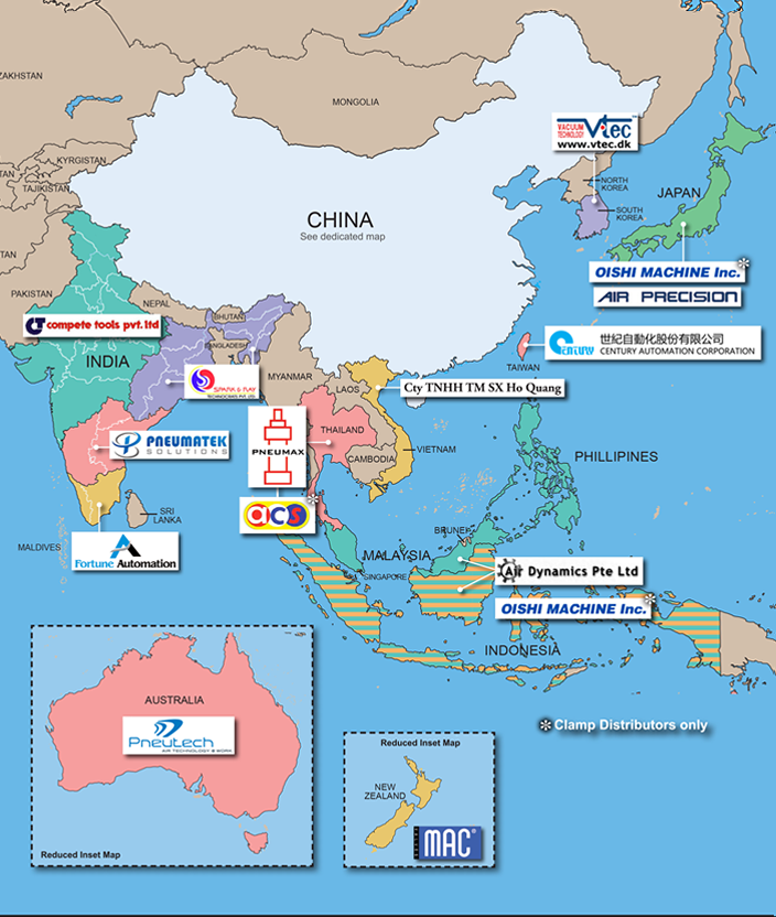 Click to expand PHD's Asian Distributor Network map...