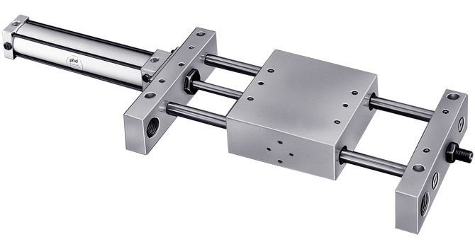 Hydraulic Air Oil Tandem Pneumatic Linear Slide B
