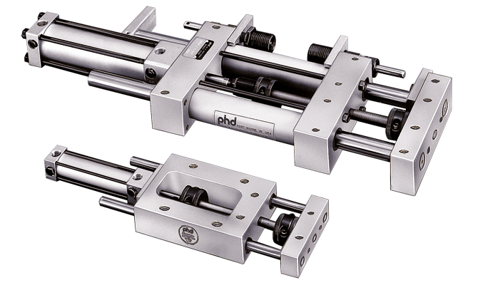 Pneumatic, Hydraulic, and Air/Oil Tandem Linear Slide | R Main Image