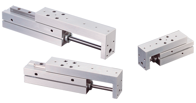 Pneumatic Slide Low Profile Miniature Rail Thruster